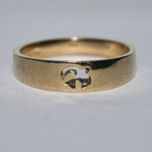 Vintage gold dove ring size 6